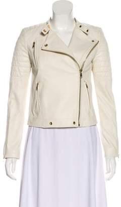 J Brand Zip-Up Leather Jacket