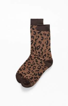 PacSun Leopard Crew Socks