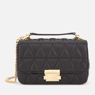 MICHAEL Michael Kors Women's Pyramid Quilted Chain Shoulder Bag - Black