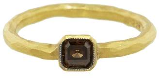 Cathy Waterman Solitaire Cognac Diamond Ring