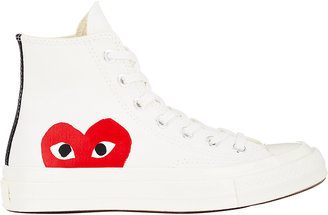 Comme des Garçons PLAY Women's Women's Chuck Taylor 1970s High-Top Sneakers $125 thestylecure.com