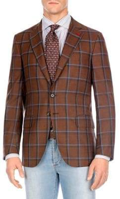 Isaia Regular-Fit 3D Windowpane Jacket