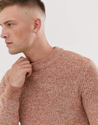 Topman jumper with turtle neck in rust