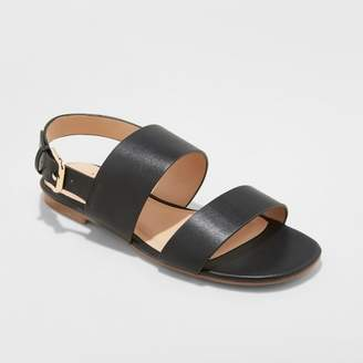 A New Day Women's Sabrina Two Band Buckle Slide Sandals