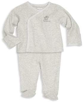 Ralph Lauren Baby's Two-Piece Kimono Top& Footed Pants Set