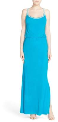 Fraiche by J Crochet Trim Maxi Dress