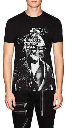 DSQUARED2 Men's Abstract-Logo-Skull Cotton T-Shirt - Black Size Xs