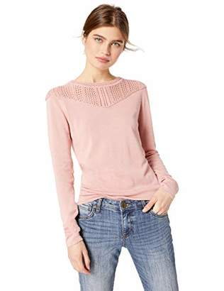 Cable Stitch Women's Pointelle Inset Sweater