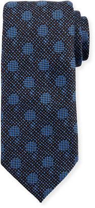 Ermenegildo Zegna Woven Silk Tonal Dot Tie