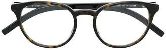 Christian Dior round frame tortoiseshell effect glasses