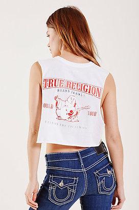 True Religion Crop Muscle Puff Womens Tee
