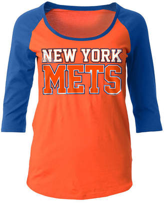 5th & Ocean Women's New York Mets Plus Raglan T-shirt