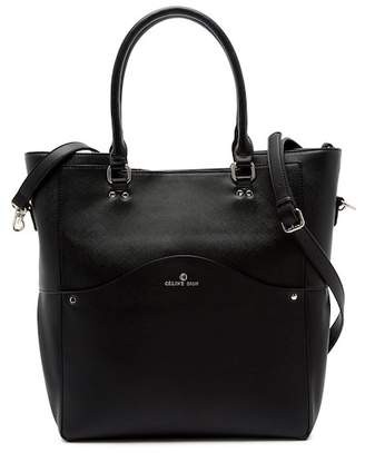 Celine Dion Motif Leather Tote