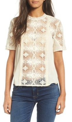 Women's Hinge Vintage Lace Top $89 thestylecure.com