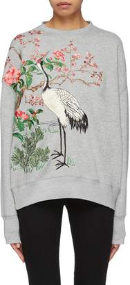 Alexander McQueen Graphic embroidered sweatshirt