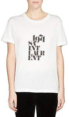 Saint Laurent Women's 1971 Logo T-Shirt
