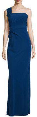 Armani Collezioni One-Shoulder Bow Gown, Royal Blue $1,795 thestylecure.com