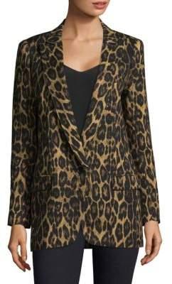 Smythe Leopard-Print Notch Lapel Blazer