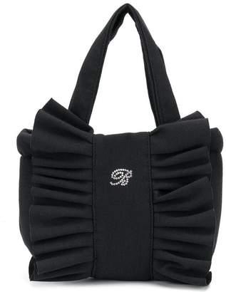 Miss Blumarine ruched logo front shoulder bag