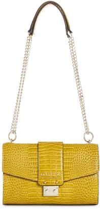 GUESS Cleo Crocodile-Print Crossbody Bag