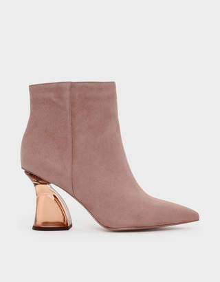 Charles & Keith Sculptural Lucite Heel Boots