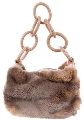 Chanel Leather-Trimmed Fur Hobo