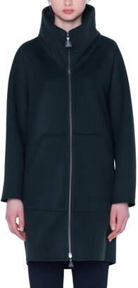 Akris Stowaway Hood Double Face Cashmere Coat