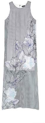 Vince Camuto Striped & Floral-print Maxi Dress