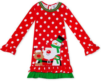 Rare Editions Toddler Girls Dot-Print Holiday Dress