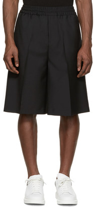 Acne Studios Black Wool Ryder Shorts $240 thestylecure.com
