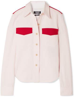 Calvin Klein Two-tone Cotton-twill Shirt - Pink