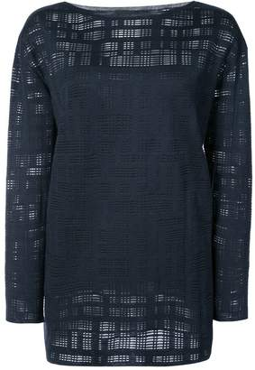 Akris mesh effect blouse