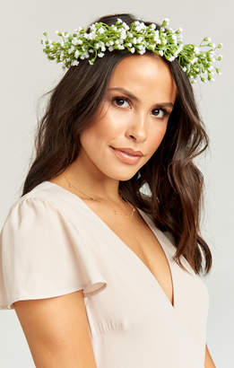 Show Me Your Mumu Baby's Breath Flower Crown ~ White