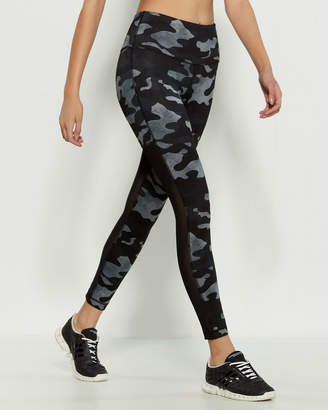 90 Degree By Reflex Camo Mesh Insert Leggings