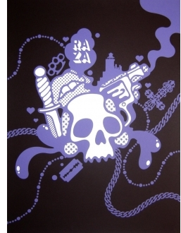 Pin It Upper Playground Raza Uno Skull Poster