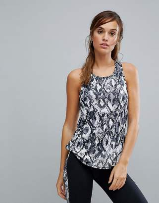 New Look Snake Print Gym Tank