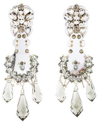 4a78bcced Prada Crystal-Embellished Clip-On Earrings