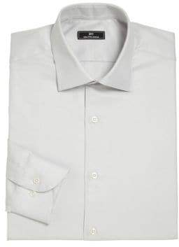 Saks Fifth Avenue 611 New York Horizontal Fine Striped Dress Shirt