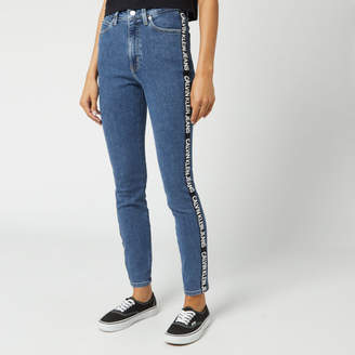 Calvin Klein Jeans Women's 010 High Rise Skinny Fit Ankle Jeans