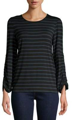 Lord & Taylor Striped Long Sleeve Top