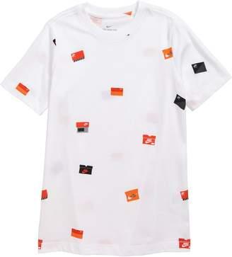 34cd0a89e3 Nike Sportswear Allover Shoebox Graphic T-Shirt