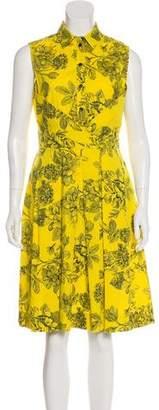 Lela Rose Printed Sleeveless Dress