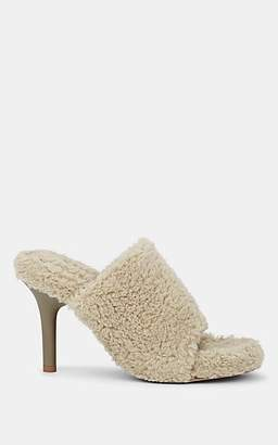 Yeezy Women's Faux-Shearling Sandals - Beige, Tan
