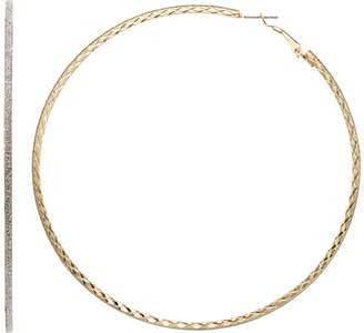 JLO by Jennifer Lopez Glittery Nickel Free Hoop Earrings