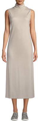 Vince Wool-Blend Sleeveless Turtleneck Long Dress