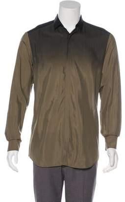 Neil Barrett Silk-Blend Ombré Shirt