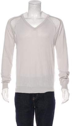 Christian Dior Mesh V-Neck Sweater