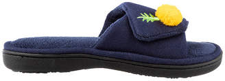 Isotoner Twill Adjustable Slide Womens Slip-On Slippers