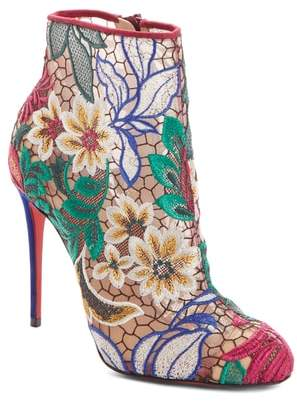 Christian Louboutin Miss Tennis Floral Lace Bootie