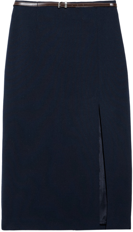 MICHAEL Michael Kors Belted jersey pencil skirt